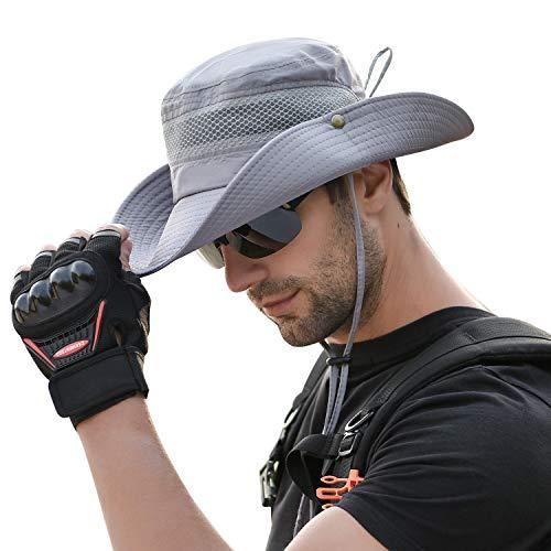 72a701c0dbef TAGVO Sombrero Ancho Sombreros para el Sol Protección UV Sombreros de  Pescador Acampar al Aire Libre Senderismo Viajes Sombrilla Sombrero de  Verano ...