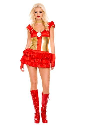 Kostüm Ironman Weiblicher - Gorgeous Avengers Iron Man Cosplay paar Uniformen
