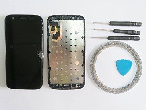For Motorola Moto G XT1032pantalla LCD con Marco (frontal, táctil negro + Herramientas & cinta adhesiva