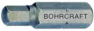 Bohrcraft Schrauber-Bits 1/4 Zoll für Innensechskant-Schrauben, SW 10,0 x 75 mm lose/Werksverpackung, 1 Stück, 61601501075