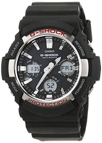 Casio G-Shock Analog-Digital Herrenarmbanduhr GAW-100 gelb schwarz, Solar und Funkuhr, 20 BAR -