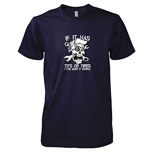 TEXLAB - Make it Squeal - Herren T-Shirt Navy