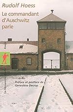 Le commandant d'Auschwitz parle de Rudolf HOESS