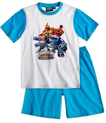 Skylanders - Jungen Sommer 2-Teiler Schlafanzug Pyjama Shorty kurz, Farbe:hellblau/blau;Größe:104 (Skylanders Jungen Und)