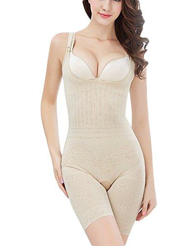 Yonglan Donna Body Snellente Aperto Busto Regolabile Shapewear Corsetto Bustino Shaper Intimo Carnagione L