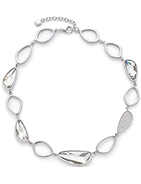 Leonardo Jewels Damen Halskette Cinetico Edelstahl Glas silber 42 cm 016333
