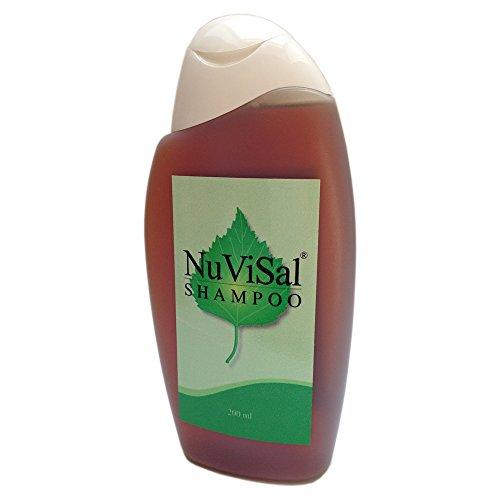 NuVisal Teershampoo Birkenteer Shampoo und Duschgel  Pack (1 x 200 ml) für Kopfhaut und Schuppenflechte – Plaque Psoriasis Shampoo Naturkosmetik Finnland