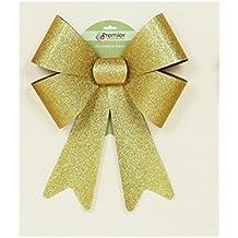 Premier gigante grande decorativo paillettes regalo fiocco decorazione 50cm x 36cm–oro