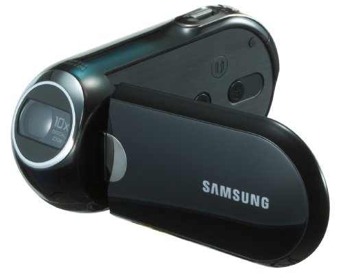 Samsung SMX-C10LP SD Camcorder (SDHC/ MMC Card, 10-fach opt. Zoom, 6,9 cm (2,7 Zoll) Display) blau (Camcorder Memory Samsung)