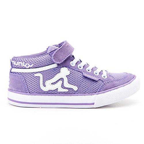 DrunknMunky Boston Mid Grid, Chaussures de Tennis fille Viola (Lavanda/White)