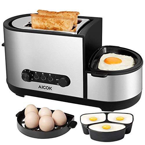 Toaster, Aicok 5-in-1 Toaster wi...