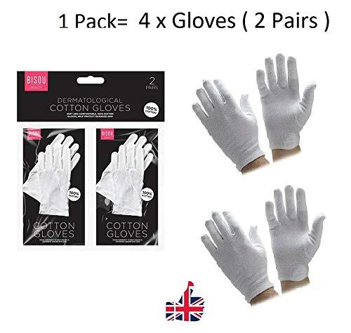 SOS-Handschuhe, 100{98e7bae1280c9a5d3560d2c4884caa5910277b68c8c6d3bd14952ae54dce9d80} Baumwolle, weich, dünn, für Schmuck, Inspektion