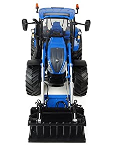 Universal Hobbies - uh4958 - Tractor New Holland t5.120 - Cargador Frontal - Azul - Escala 1/32