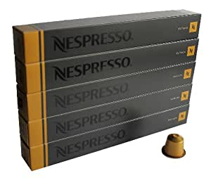 nespresso kapseln gold 50 kaffeekapseln 5 x 10 kapseln volluto espresso lebensmittel. Black Bedroom Furniture Sets. Home Design Ideas