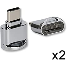 chenyang 2pcs USB 2.0tipo C USB-C a Micro SD SDXC TF lector de tarjetas adaptador para Macbook & teléfono móvil
