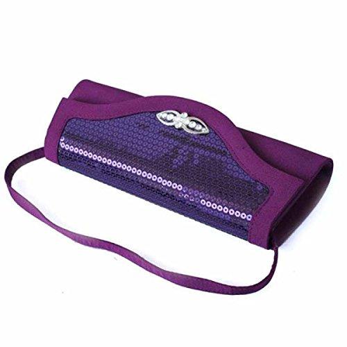Luxus Kupplungs Hard Geldbeutel Case Handtasche Purple Clutch rtTwqUvr