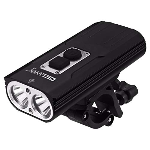 Eariy Nitenumen Usb Blendung Wasserdichtes Fahrradlicht, 1800 Lumen Wiederaufladbare Fahrradbeleuchtung Fahrradlichter Set, Ipx5 Wasserdicht Frontlicht Fahrradlampe Set, Licht FüR Fahrrad (a)