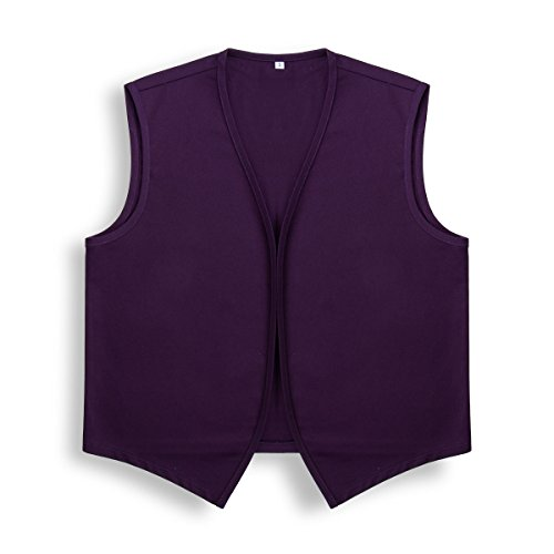 Nofonda Unisex Basic Uniform Weste Anzugweste ohne Tasche und Knopf Halloween Party Kostüm Outfit - Adult (Lila, L)