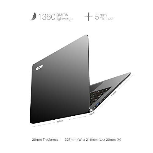 RDP ThinBook 1430-EC1 14.1 inch Laptop (Intel 1.92 GHz Quad Core/2GB RAM/32GB Storage/Windows 10/Ultraslim Metallic Grey Finish with Thin Bezel)