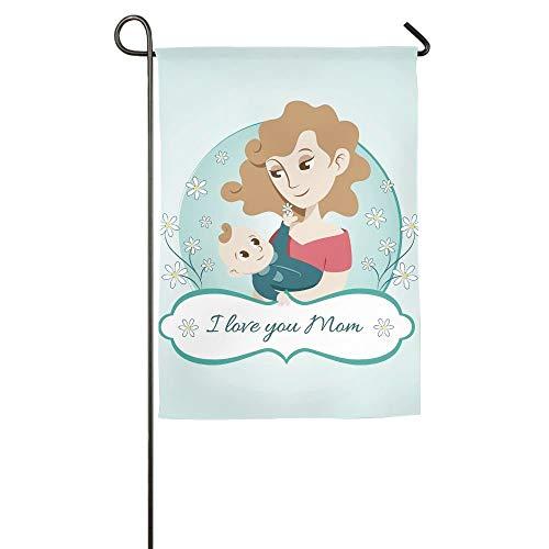 HujuTM Baby and Mom Home Garden Indoor/Outdoor Flags 18\