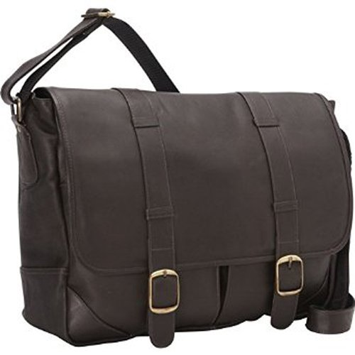 david-king-co-double-strap-messenger-with-two-straps-and-buckles-cafe-one-size