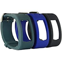 Talla única HopCentury Garmin Vivofit banda muñequera accesorio de la correa con hebilla de metal hebilla de repuesto para Garmin Vivofit 1generación–3unidades, color 3 Pack #1