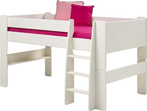 Steens für Kinder Halbhochbett, inkl. Lattenrost und Absturzsicherung, teilbar, MDF, 90x200 cm, weiß