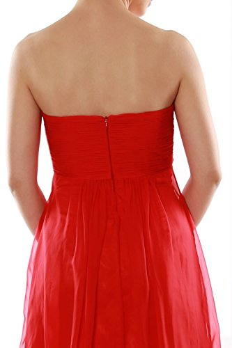 MACloth - Robe - Trapèze - Sans Manche - Femme Rouge - Rouge bordeaux