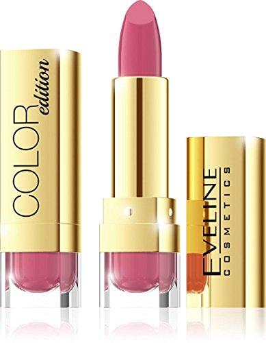 Eveline Cosmetics Color Edition Lipstick Rouge à Lèvres avec Beurre, Aloe Et En Vitamine E. Parfait Lèvres Maquillage Sélection de couleurs
