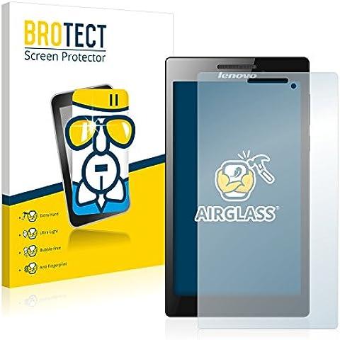 BROTECT AirGlass Protector Pantalla Cristal Flexible Transparente para Lenovo Tab 2 A7-10 Protector Cristal Vidrio - Extra-Duro, Ultra-Ligero,