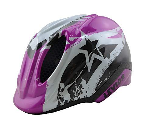 KED Fahrradhelm Primo Violet Stars in der Größe S (Kopfumfang 46-51cm) - Allroundhelm in Robuster maxSHELL- Technologie und Quicksafe-System