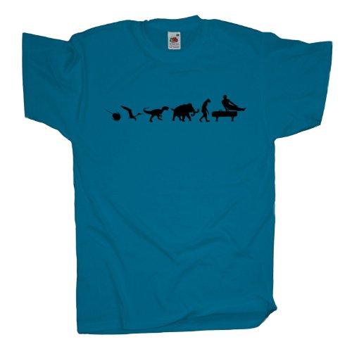 Ma2ca - 500 Mio Years - Geräteturnen Barren T-Shirt Azure