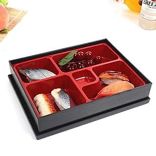 Japonais Boîte Déjeuner Bento Boîtes Diviseur 5 Compartiments Rangement Nourriture & Organisation Conteneur Parfait pour Sushi, Riz Rouleau, Buffet, Dessert Sauces, Dips Amuse-Gueules