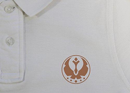 Star Wars: Galactic Föderation der gratis Allianzen Herren Vintage Pique Polo - Vintage White