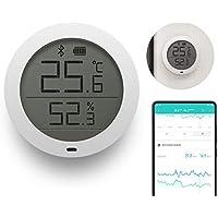 LayOPO Termometro Interno Igrometro Digitale, per Xiaomi Mijia Sensore di umidità Temperatura Bluetooth con Schermo LCD-Vista Remota su Mi Home App