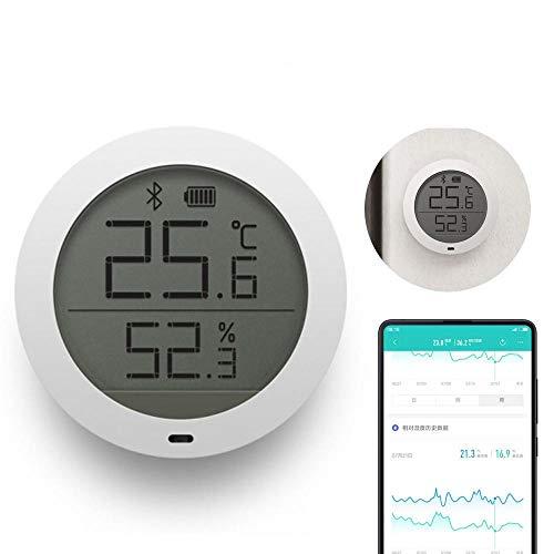 FOONEE Digital-Hygrometer-Innenthermometer, Bluetooth-drahtloser APP Steuern Genaues Temperatur-Feuchtigkeits-Monitor-Meter für Haus, Innen- und Im Freien