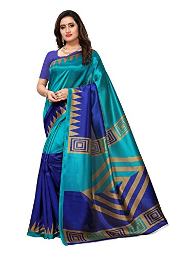 Mrinalika Fashion Art Silk Saree With Blouse Piece (Multi-Coloured_Sarees New Collection Aphalsp9807D_Free Size)