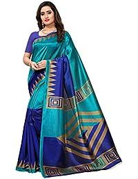 Mrinalika Fashion Art Silk Saree With Blouse Piece (Multi-Coloured_Free Size)