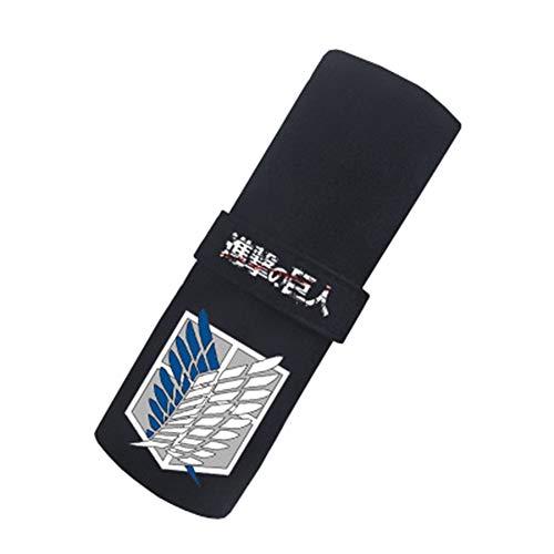 Attack on Titan Federmäppchen große Kapazität Bleistiftbeutel mit Reißverschluss Aufbewahrungstasche Tasche gedruckte Federmäppchen (Color : A01, Size : 22 X 18 cm)