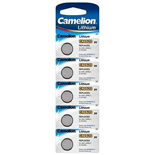 CAMELION pack de 5 piles Lithium CR1620 3V