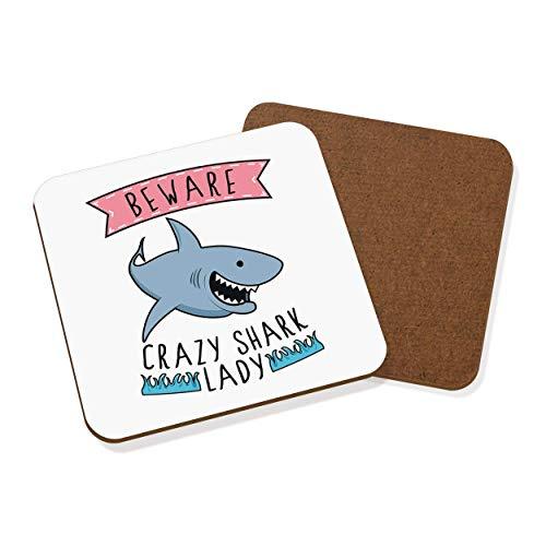 zy Shark Lady Untersetzer Getränke-unterlage ()