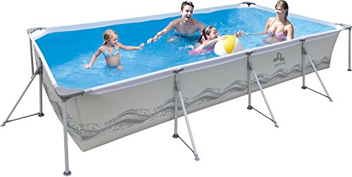 JILONG JL017442NG - Piscina (Piscina con Anillo Hinchable, Rectangular, 6075 L, PVC, Poliéster, Metal, 3940 mm)