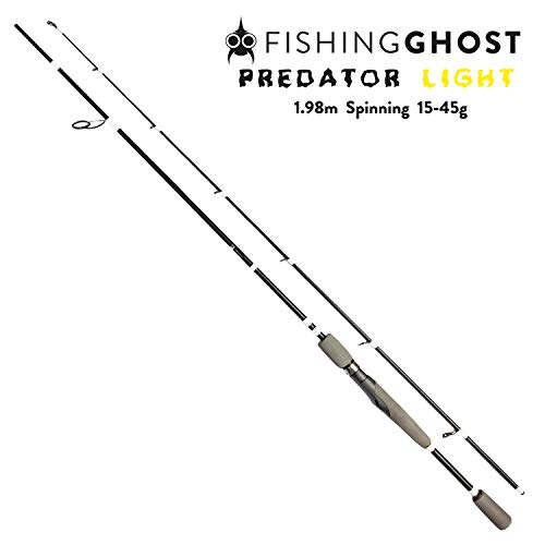 FISHINGGHOST Predator Light Canne à pêche 1,98m,...