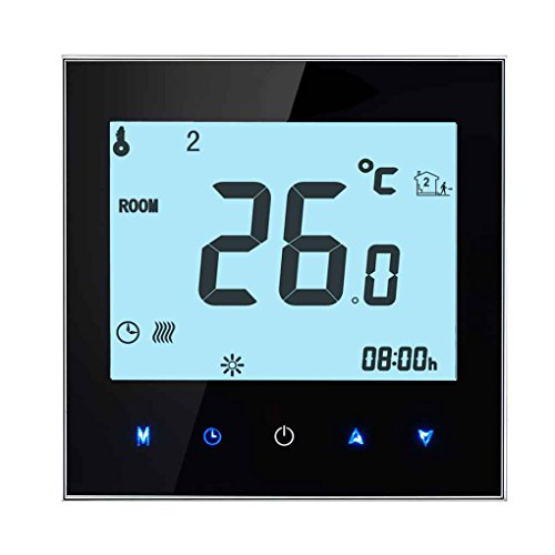 Programmierbare LCD-Anzeigen-Screen-Wasser-Heizungs-Thermostat NTC-Sensor Raumtemperaturregler Mengonee (Programmierbare Lcd-anzeige)