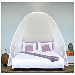 EVEN Naturals Luxus Popup MOSKITONETZ Zelt, großes Mückennetz für Doppelbett, feinste Löcher, Camping Netz, Faltdesign…