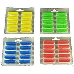 """40 Duftstäbchen.grün, gelb, blau, rot Duftis, Noten """"Sommerwiese"""", """"Lemone"""", """"Meeresbriese"""", """"Fruchtfrische"""""""