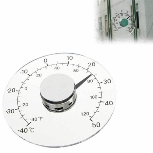 Termometro analogico misura temperatura esterno casa auto adesivo finestra