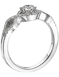 Diamond Engagement Ring in 14K Gold / White - GIA Certified, Round, 0.56 Carat, D Color, VVS2 Clarity
