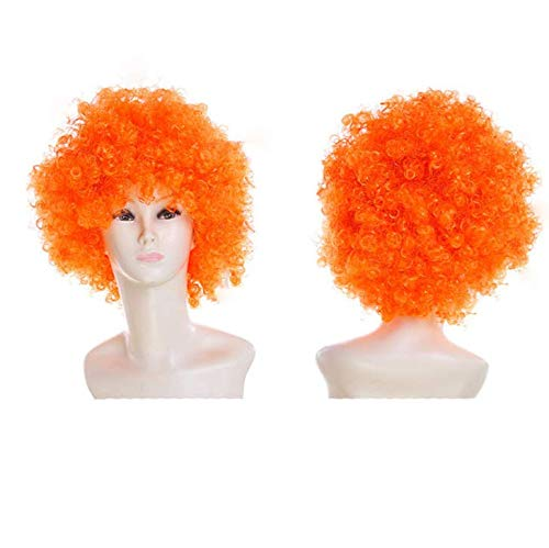 ind Explosion Kopf Cosplay Kostümparty Clown Party Perücke Set - Orange ()