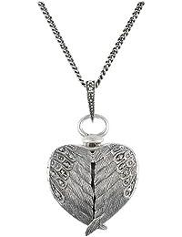Esse Marcasite 214N5836-01 - Collar de plata de ley con marcasita